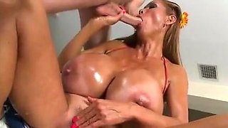 asian milf with very huge bumpers