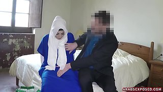 Beautiful Girl strips but keeps her hijab on