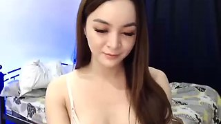 Asian shemale with a hard cock