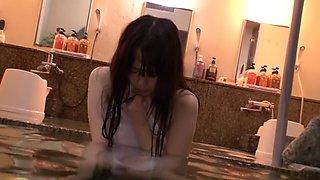 Hottest Japanese girl Yuka Tachibana, Ruka Kanae in Incredible showers, cougar JAV scene