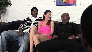 Brooklyn Chase\'s First Interracial Gangbang