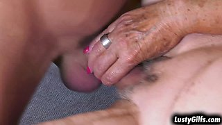 Granny Malya spreading her old PUSSY for her monthly rent