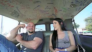 Jessica Jewelz gets picked up and fucked in the Bang Bus