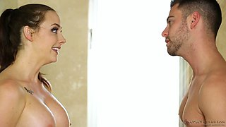Horny masseur takes a bath with Chanel Preston and he is having fun