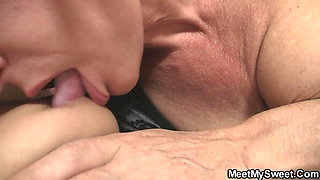 69 with his mom and riding old dad's cock