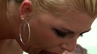 Best pornstar in incredible blonde, blowjob sex clip