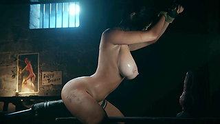 Lara Croft fuck machine dildo slut whore – 3d sex game