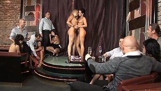 Sexy girls are making an orgy in the hot and kinky group sex video