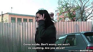 Bitch STOP - Busty teen Veronika fucked outdoor