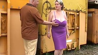 Mature Wife Show Her Voluptus Body Outdoor.