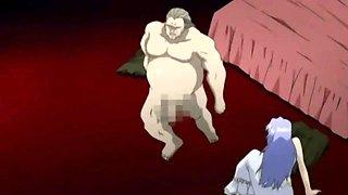 Hentai princess sucking a monsters hard cock