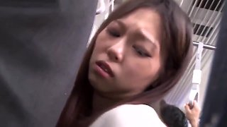 Bus groping - young japanese lady molested