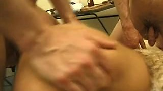 French guy dominated hard by a busty Femdom mistress