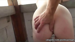 Super sexy busty real amateur from Czech Republic flashesin