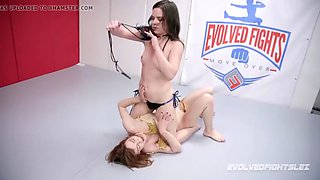 Juliette march destroys alexa nova in lesbian sex wrestling