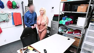Officer Mike offered help to busty suspect Alura Jenson
