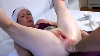 Kinky mature wife braces herself for an intense anal fisting
