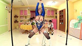 Bodacious Japanese girl in uniform takes a hard pounding