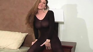 Kayla Page - Crotchless Pantyhose Cock Controller
