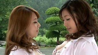 Incredible Japanese chick Miwako Yamamoto, Yumi Kazama in Fabulous Cunnilingus, Lingerie JAV clip