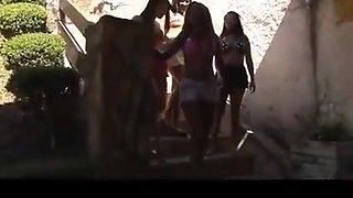 Hot Brazilian Kissing Gang