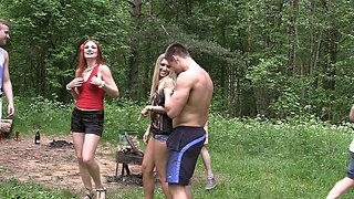 Dominica Phoenix & Eva Berger & Nika Star & Mancy & Rita Rush & Sabrina M  in real college fucking filmed in the outdoors