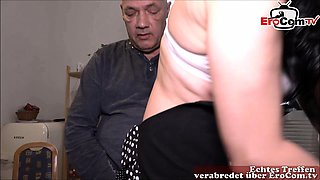 german old cuckold and young girlfriend 3some bbc