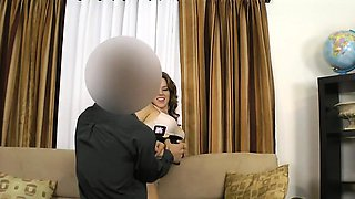 Midget fake agent fucks brunette amateur on casting