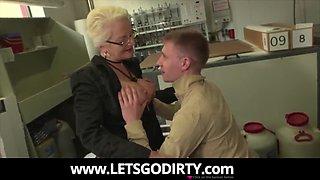 amazing granny fucks