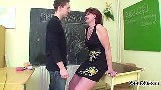German Old Teacher Shows Boy How To Get Pregnant