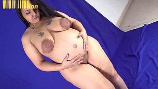 BBW PREGGO Huge Hanging Tits Edging Trainer 9