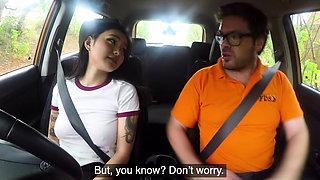 Fake Driving School Sexy Japanese Rae Lil Black