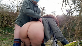doggystyle, he fucks my pussy outdoors