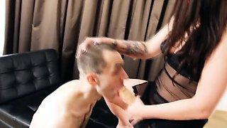Slave thought he was to take a massive strap-on but got