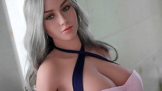 White big breasted female doll full of temptation