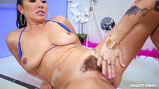 Lesbian sex in the bubble bath with Keisha Grey and Karlee Grey