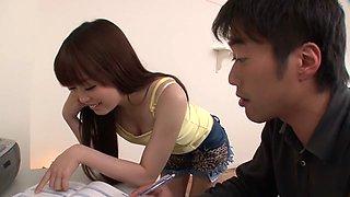 Crazy Japanese chick Moe Sakura in Amazing JAV uncensored College Girl movie