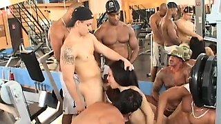 brazilian gangbang at the gym