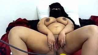ARAB with hijab playing