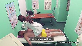 Doctor gets massage from hot nurse