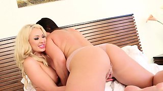 Bedroom sex with Summer Brielle and Alison Tyler