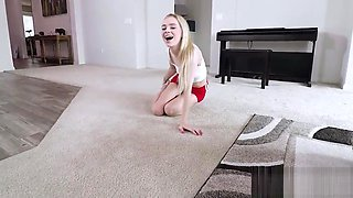 Brother blackmails drunk step sister to fuck her