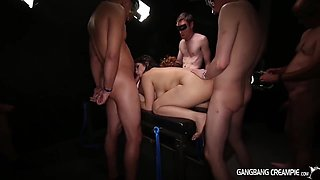 Hardcore Group Action With Masked Guys And Lesbian Teens - Choky Ice