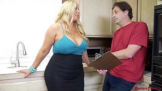 Sexy Karen Fisher Kitchen Fuck