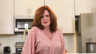Florida milf Rebecca shows what's cooking in the kitchen