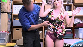 Busty Emily Right forced to fuck and take a cumshot at the office