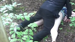 Force fucking Caz in the woods - Using her cunt, arsehole, fisting her - sliding a knife in her cunt