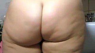 Big ass wife in bathroom