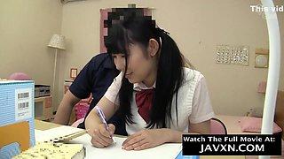 Pervert Teacher Pleased Japanese Schoolgirl With Doggy Fuck