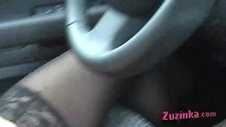 Dildo inside the driver